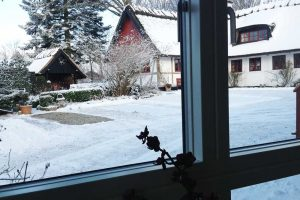 Winterblick von einem der Zimmer